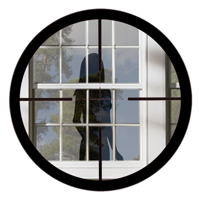 Targeting her through a window from the book Juliandra by Shawn Lewis Hill